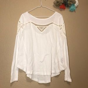 Free People White Thermal Lace Small